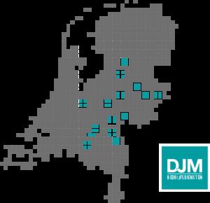 Werkgebied DJM Bedrijfsdiensten